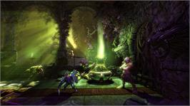 In game image of Trine 2 on the Microsoft Xbox Live Arcade.