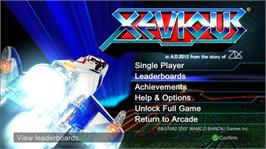 In game image of XEVIOUS on the Microsoft Xbox Live Arcade.
