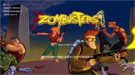 In game image of Zombusters on the Microsoft Xbox Live Arcade.