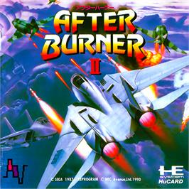 Box cover for After Burner II on the NEC PC Engine.
