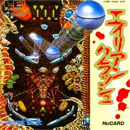 Box cover for Alien Crush on the NEC PC Engine.