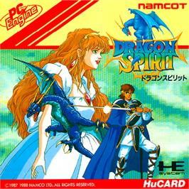 Box cover for Dragon Spirit: The New Legend on the NEC PC Engine.