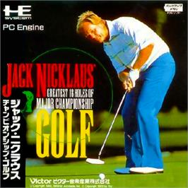 Box cover for Jack Nicklaus' Greatest 18 Holes of Major Championship Golf on the NEC PC Engine.