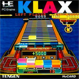 Box cover for Klax on the NEC PC Engine.