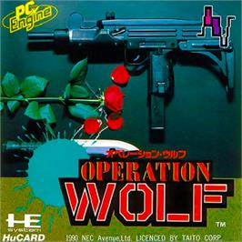 Box cover for Operation Wolf on the NEC PC Engine.