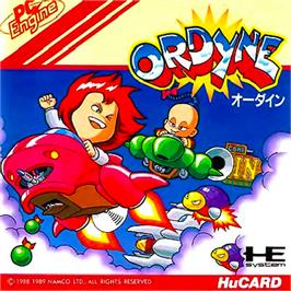 Box cover for Ordyne on the NEC PC Engine.