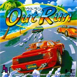 Box cover for OutRun on the NEC PC Engine.