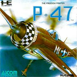 Box cover for P-47 Thunderbolt: The Freedom Fighter on the NEC PC Engine.