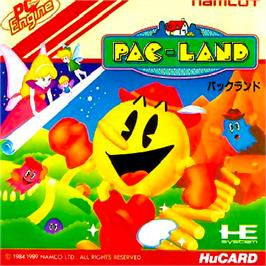 Box cover for Pac-Land on the NEC PC Engine.