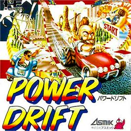 Box cover for Power Drift on the NEC PC Engine.