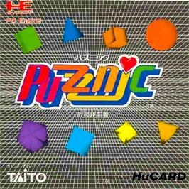 Box cover for Puzznic on the NEC PC Engine.