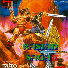 Box cover for Rastan Saga 2 on the NEC PC Engine.