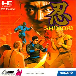 Box cover for Shinobi on the NEC PC Engine.
