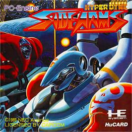 Box cover for Side Arms Hyper Dyne on the NEC PC Engine.