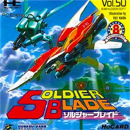 Box cover for Soldier Blade on the NEC PC Engine.