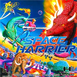 Box cover for Space Harrier on the NEC PC Engine.