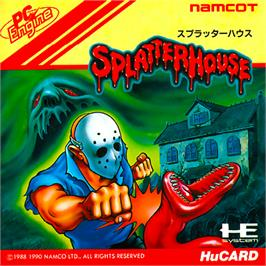 Box cover for Splatterhouse on the NEC PC Engine.