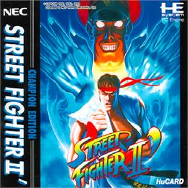 Box cover for Street Fighter II': Special Champion Edition on the NEC PC Engine.