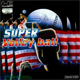 Box cover for Super Dodge Ball on the NEC PC Engine.
