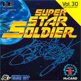 Box cover for Super Star Soldier on the NEC PC Engine.