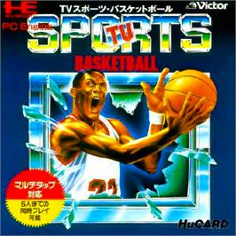 Box cover for TV Sports: Basketball on the NEC PC Engine.