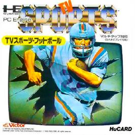 Box cover for TV Sports: Football on the NEC PC Engine.