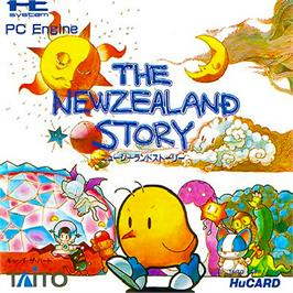 Box cover for The New Zealand Story on the NEC PC Engine.
