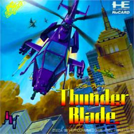 Box cover for ThunderBlade on the NEC PC Engine.