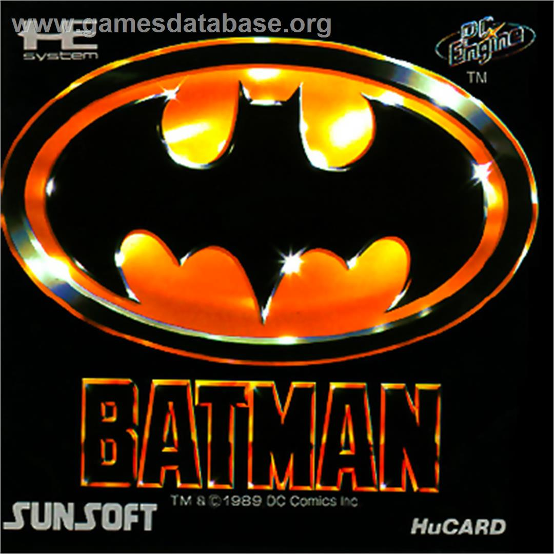 Box cover for Batman: The Video Game on the NEC PC Engine.