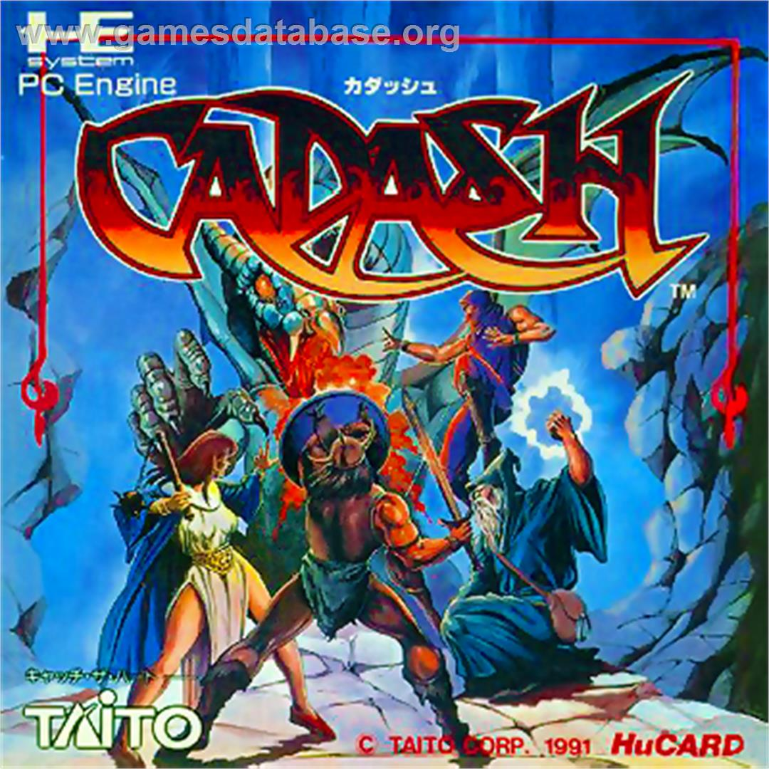 Box cover for Cadash on the NEC PC Engine.