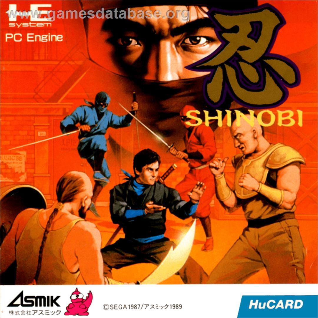 Box cover for Shinobi on the NEC PC Engine.