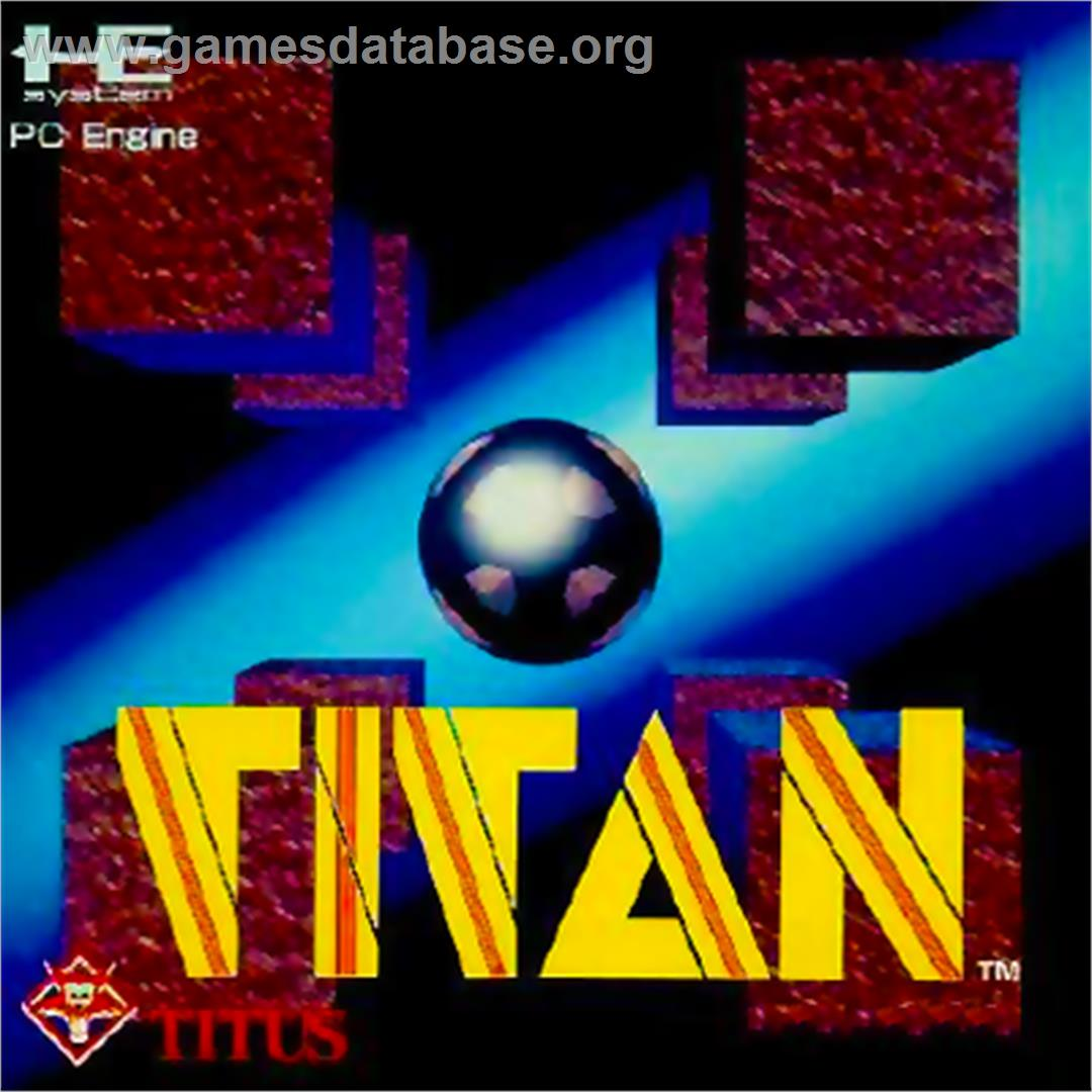 Box cover for Titan on the NEC PC Engine.