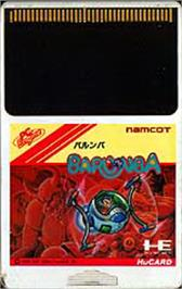 Cartridge artwork for Barunba on the NEC PC Engine.