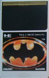Cartridge artwork for Batman: The Video Game on the NEC PC Engine.