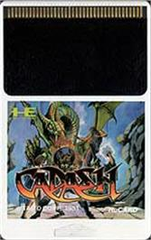 Cartridge artwork for Cadash on the NEC PC Engine.