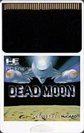Cartridge artwork for Dead Moon on the NEC PC Engine.