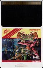 Cartridge artwork for Dragon Saber: After Story of Dragon Spirit on the NEC PC Engine.