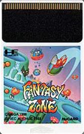 Cartridge artwork for Fantasy Zone on the NEC PC Engine.