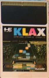 Cartridge artwork for Klax on the NEC PC Engine.