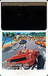 Cartridge artwork for OutRun on the NEC PC Engine.