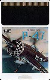Cartridge artwork for P-47 Thunderbolt: The Freedom Fighter on the NEC PC Engine.