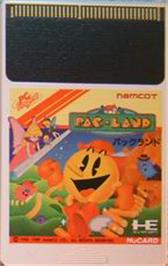 Cartridge artwork for Pac-Land on the NEC PC Engine.