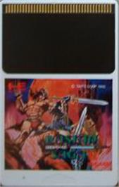 Cartridge artwork for Rastan Saga 2 on the NEC PC Engine.