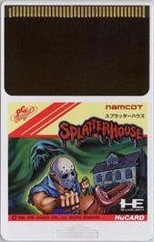 Cartridge artwork for Splatterhouse on the NEC PC Engine.