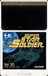 Cartridge artwork for Super Star Soldier on the NEC PC Engine.