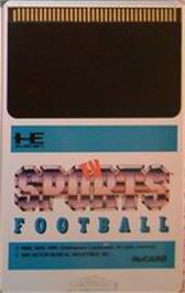 Cartridge artwork for TV Sports: Football on the NEC PC Engine.