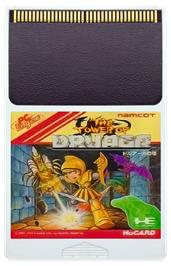 Cartridge artwork for The Tower of Druaga on the NEC PC Engine.
