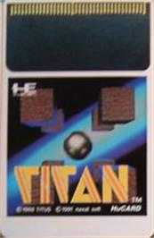 Cartridge artwork for Titan on the NEC PC Engine.