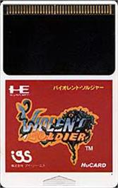 Cartridge artwork for Valis: The Fantasm Soldier on the NEC PC Engine.