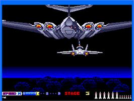 In game image of After Burner II on the NEC PC Engine.